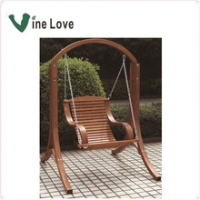 Outdoor garden wooden swings for adults