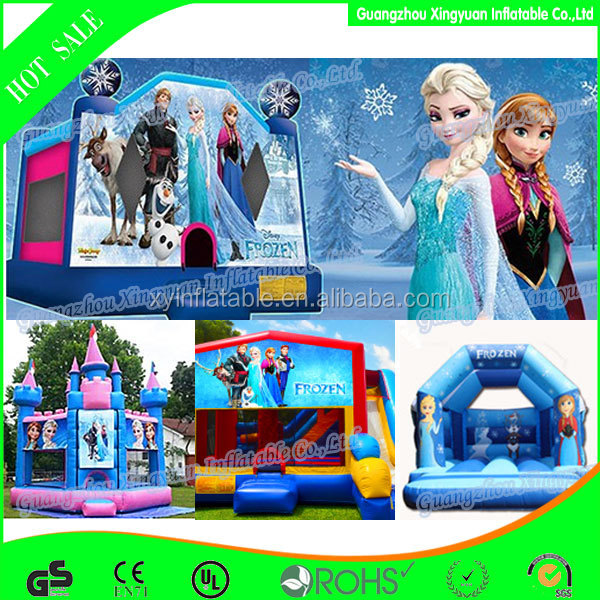 Custom children games inflatable frozen bouncy castle for jumping games