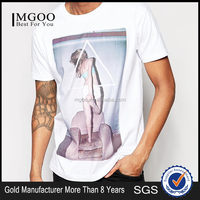 Mens t shirt 2016 Customized Made Fashionable White Tops Bundles Of Clothing Wholesale