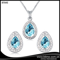 wholesale jewelry teardrop necklace and earrings jewelry set