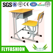 School furniture study table and chair for kid/single desk and chair for classroom