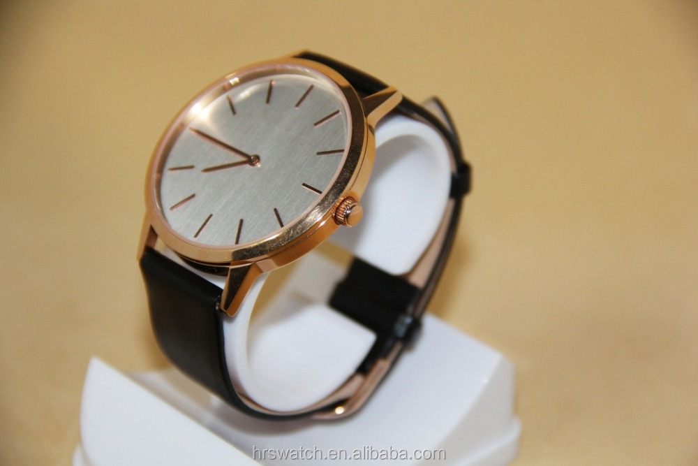 mens stainless steel quartz goldlis watch