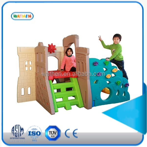 2015 plastic toy combination climbing structure of the castle series