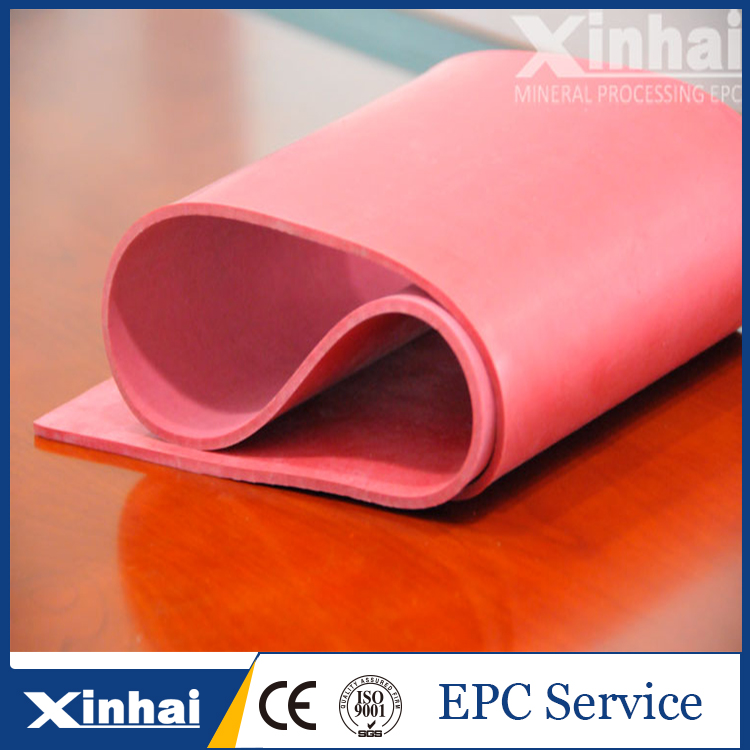 China high quality vulcanized rubber sheet with low price used in mining