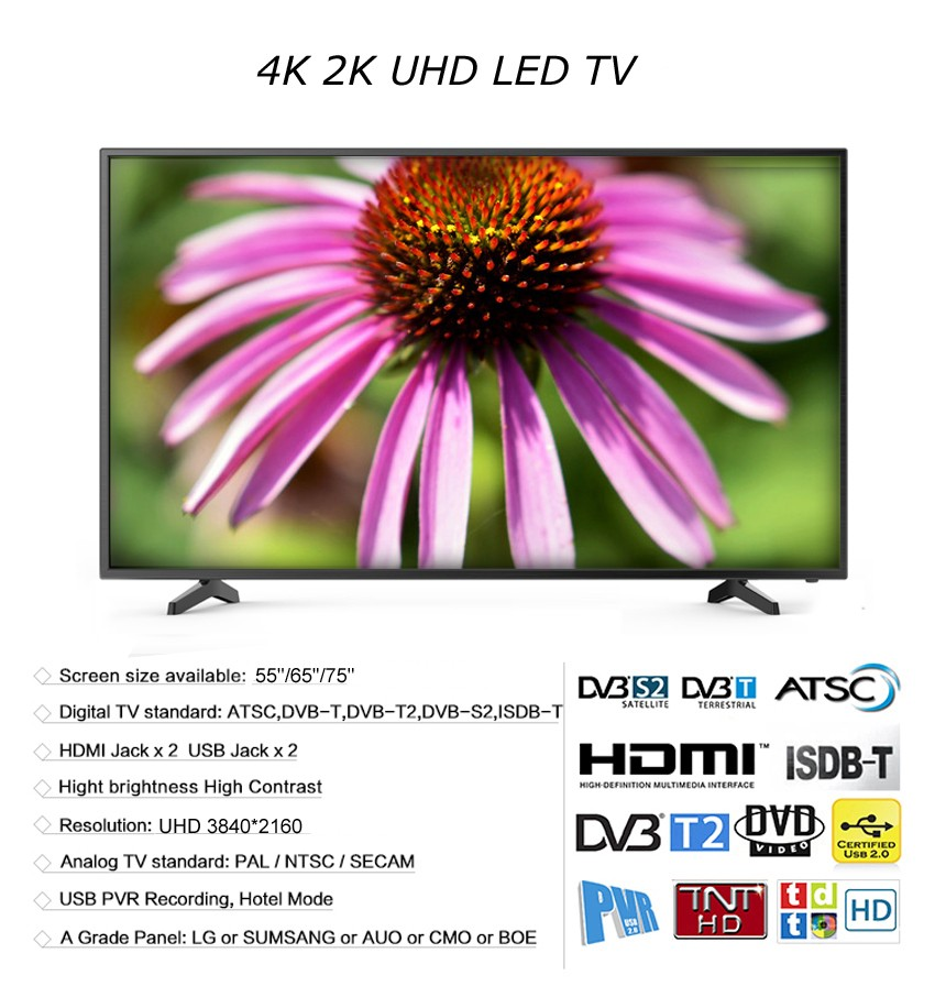 55 60 65 75 80 inch Wholesale China OEM SKD Big Scree HD TV,Cheap Chinese LCD Television LED TV