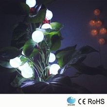Low voltage safety led Christmas cotton ball string light