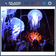 New product! hanging decoration balloon, led light inflatable jellyfish