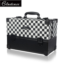 16BCB026 high quality new design aluminum makeup train case , beauty train case , cosmetic train case