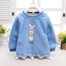 ca50028 children clothes cartoon printed long sleeve thick baby girl shirts
