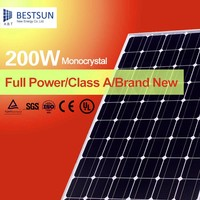 195w 200w all black mono Solar modules with 72 pcs 125*125 mono cells with CE, TUV, UL, CSA, MCS PV CYCLE