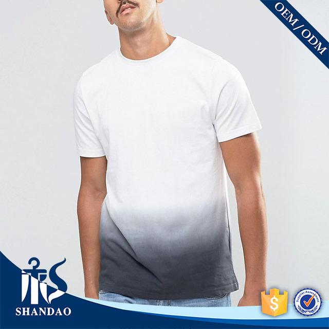Guanzhou Shandao Wholesale Ombre 140g 100% Bamboo Fiber O-neck short sleeve cheap plain white t-shirts