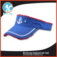 Adult size factory price knit custom sun visor cap