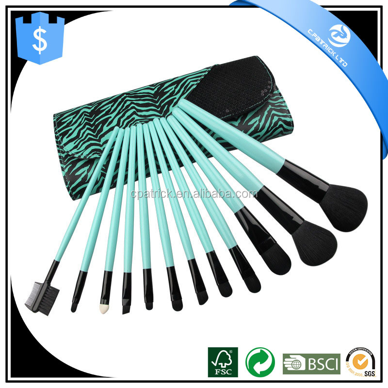 Best Quality Natural hair Makeup Brush Set 12 PCS with Custom Color