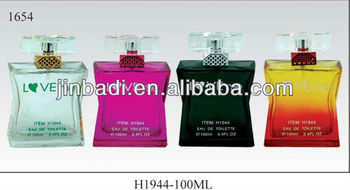 100ml dignified perfume glass bottles with pump and cap