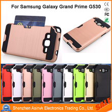 Shockproof Card Slot Dual Layer Armor Hybrid Protective Case For Samsung Galaxy Grand Prime/G530