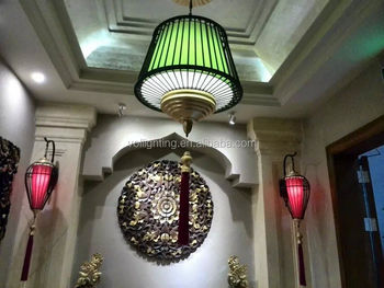 Asia style iron pendant lamp hotel lights lantern design