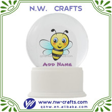 Custom resin base with acrylic bee snow globe manufacturers