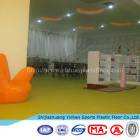 Temporary plastic floor for kids and wet areas