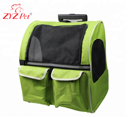 Multi-fuction pull rod pet bag dog carrier backpack customized animal travel case