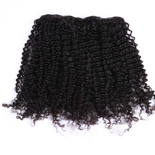 Clip in brazilian human remy hair natural black afro kinky curly for black women