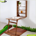 China wall mounted table in teak wood
