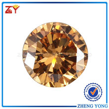 Individuation sizes loose champagne man-made synthetic diamond for fashion gemstone jewelry