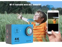 "Wholesale Price 4K WiFi Sport Action Camera H9R With 2.4G Remote Control Ultra HD 2.0"" 170D Helmet Cam waterproof"