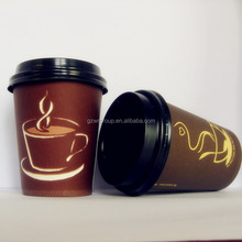 Disposable Hot Drink Paper Cups With Lid