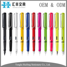 Free sample promotional gift black ink lamy calligraphy nib luxury plastic fountain pen set