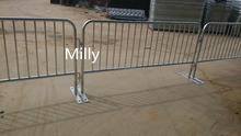 Hot dip galvanized Fixed Leg Bike Rack Style Steel Barrier/ event fence barricade /tubular road bar barrier