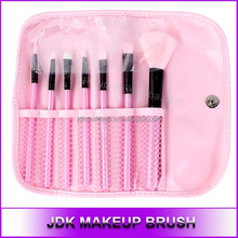 Hot Selling 7PCS Essential Makeup Brush Set with Pink Cosmetic Pouch