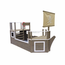 Children sandbox kids wooden pirate sandpit