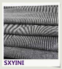 shaoxing YINI 2016 new design ladies 2x2 4x4 knitted spandex yarn dyed graded TR rib fabric