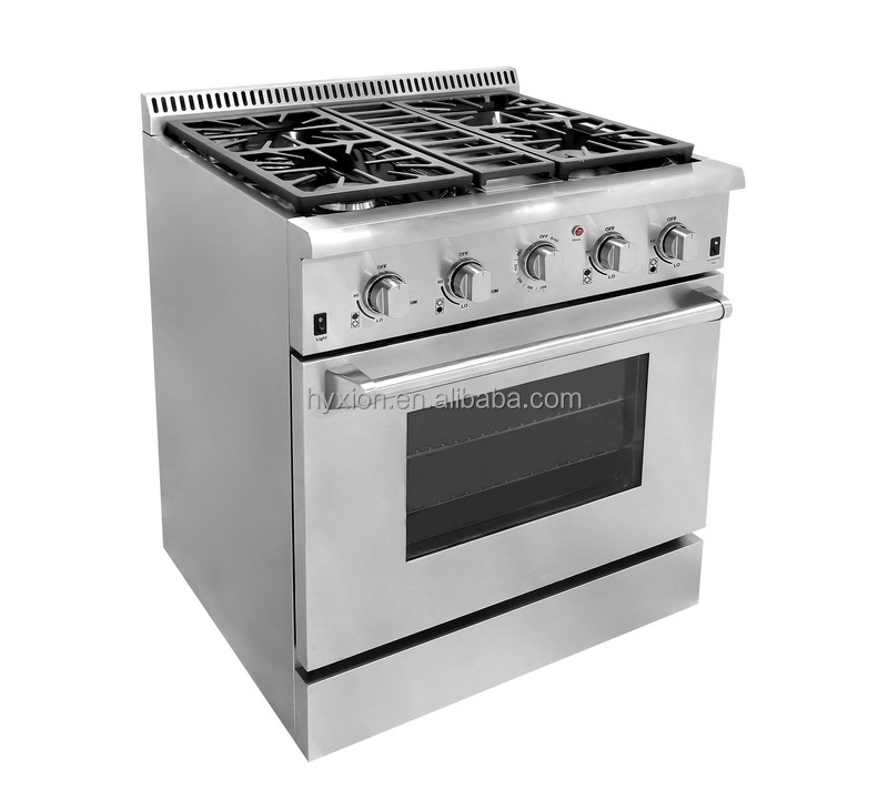 Commercial kitchen professional electric chinese 4 burners gas cooking range prices