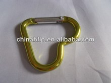 Folded hot style aluminum carabiner key chain