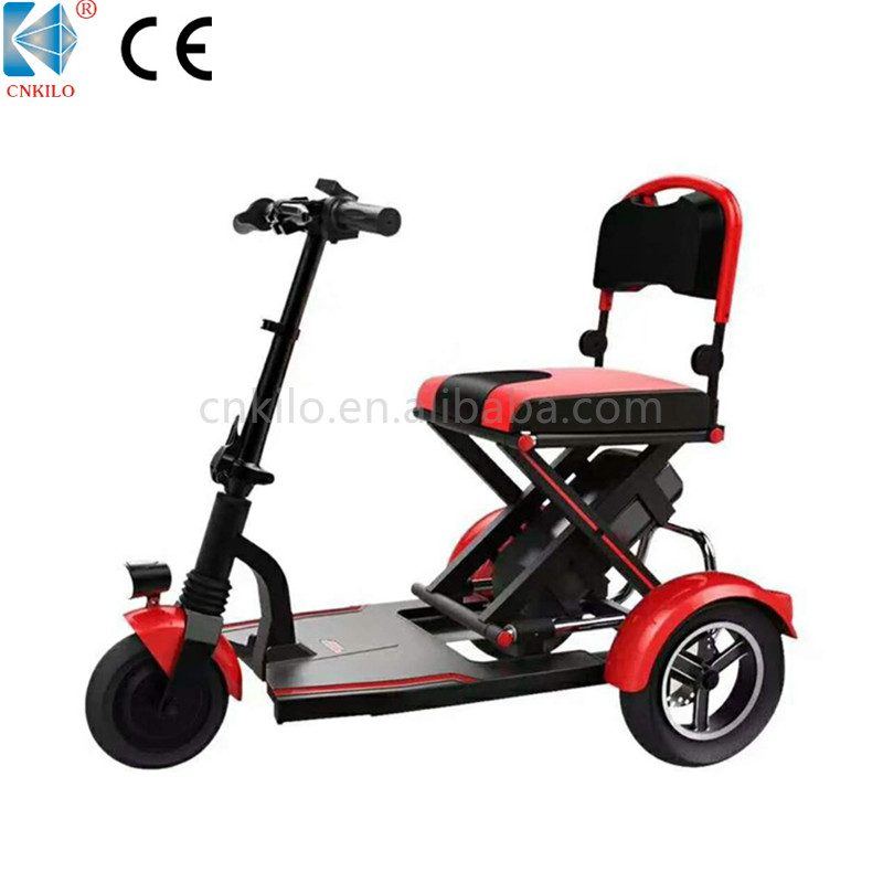 Three Wheel Comfortable Folding Electric Scooter for Elderly with Lithium Battery
