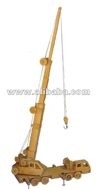 Wooden Model-Toy Mobile Crane Toy Plan