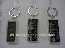 Wholesale High Quality Good Price Customized Plastic Name Solar Key Chain