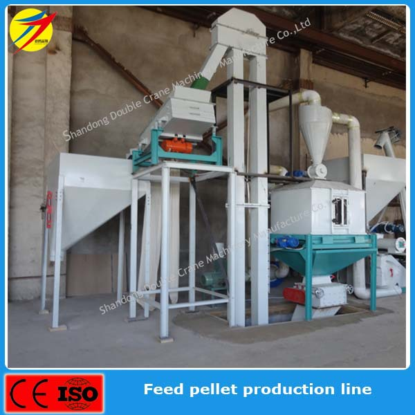 High efficiency wheat processing plant for animal feed