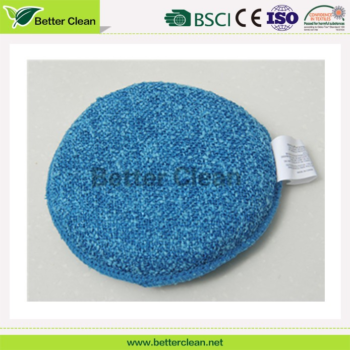 Round shape with high density foam kitchen clean pad dish washing sponge