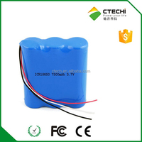 Factory price Cylindrical Li-Ion 18650 3.7V 7500mAh PCB Protected Rechargeable Battery Pack