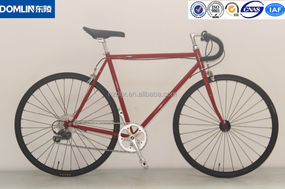 China retro vintage Road Bicycle for men/700C steel 8 speed cheap bike racing bicycle price