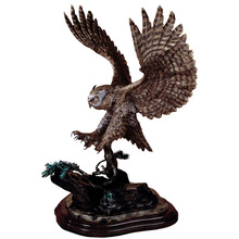 popular metal craft lively bronze owl sculpture for sale