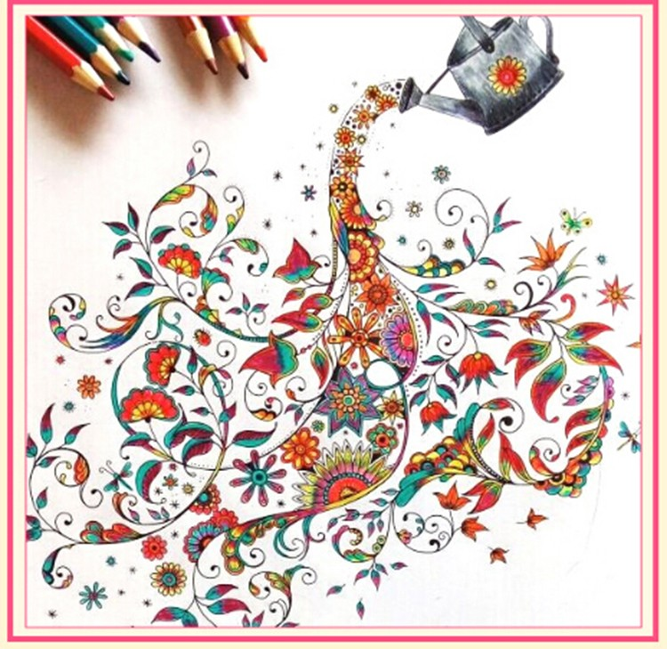 customized cheap wholesale adult coloring books