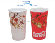 TCCC Audited Factory Custom Coke Cola Change Color Cup For Promotional