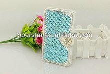For Samsung Galaxy S3 i9300 Cristal Diamond flip Leather stand Case