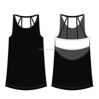 OEM factory low moq wholesale high quality women blank plain white tank top/corp top