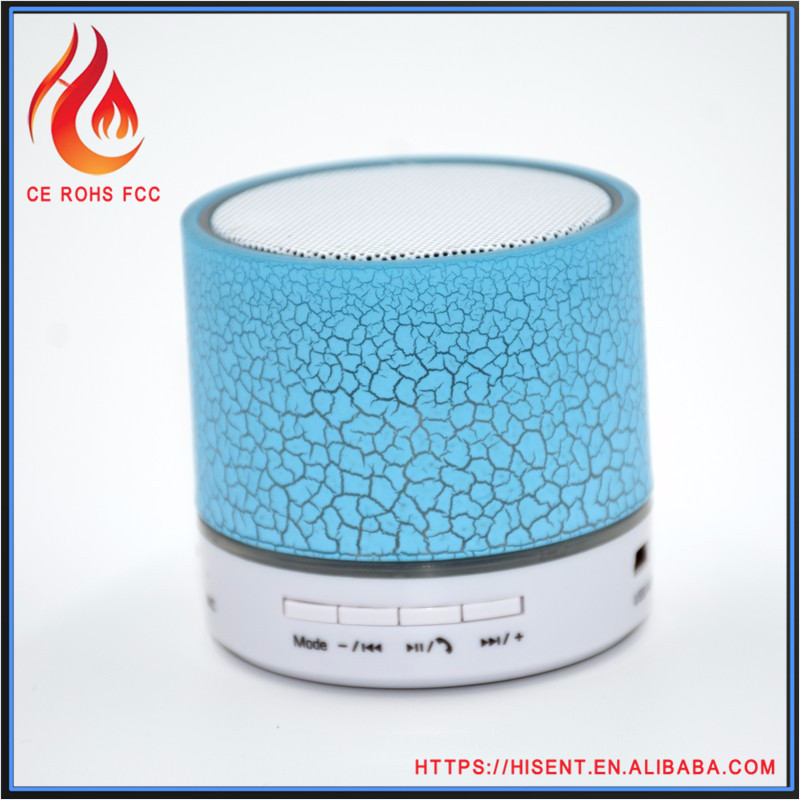 New style outdoor portabe latest version of round shape led bluetooth speaker for sale