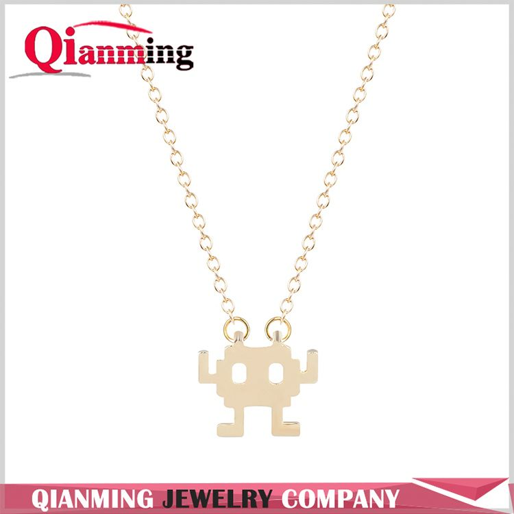 New Fashion Robot Jewelry Cute Cool Adventure Pretty Necklace Jewelry Small Robot Necklaces for Women