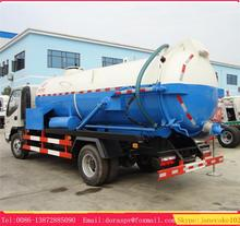 JAC 4*2 6 wheeler sewer high pressure suction tanker vacuum tank with jetting truck